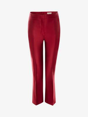 High-Waisted Cigarette Trouser