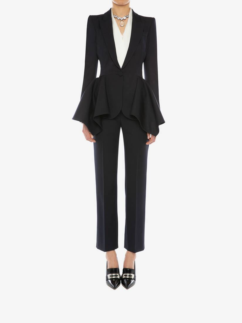 High Waisted Cigarette Trouser