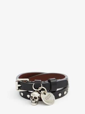 Hammered Studs Double-Wrap Bracelet