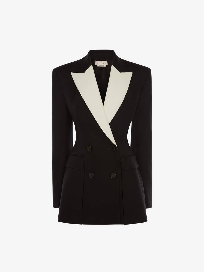 Double-Breasted Box Pleat Jacket
