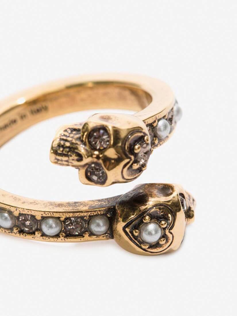 大きな製品イメージを表示する 3 - Wrap-Around Skull Ring