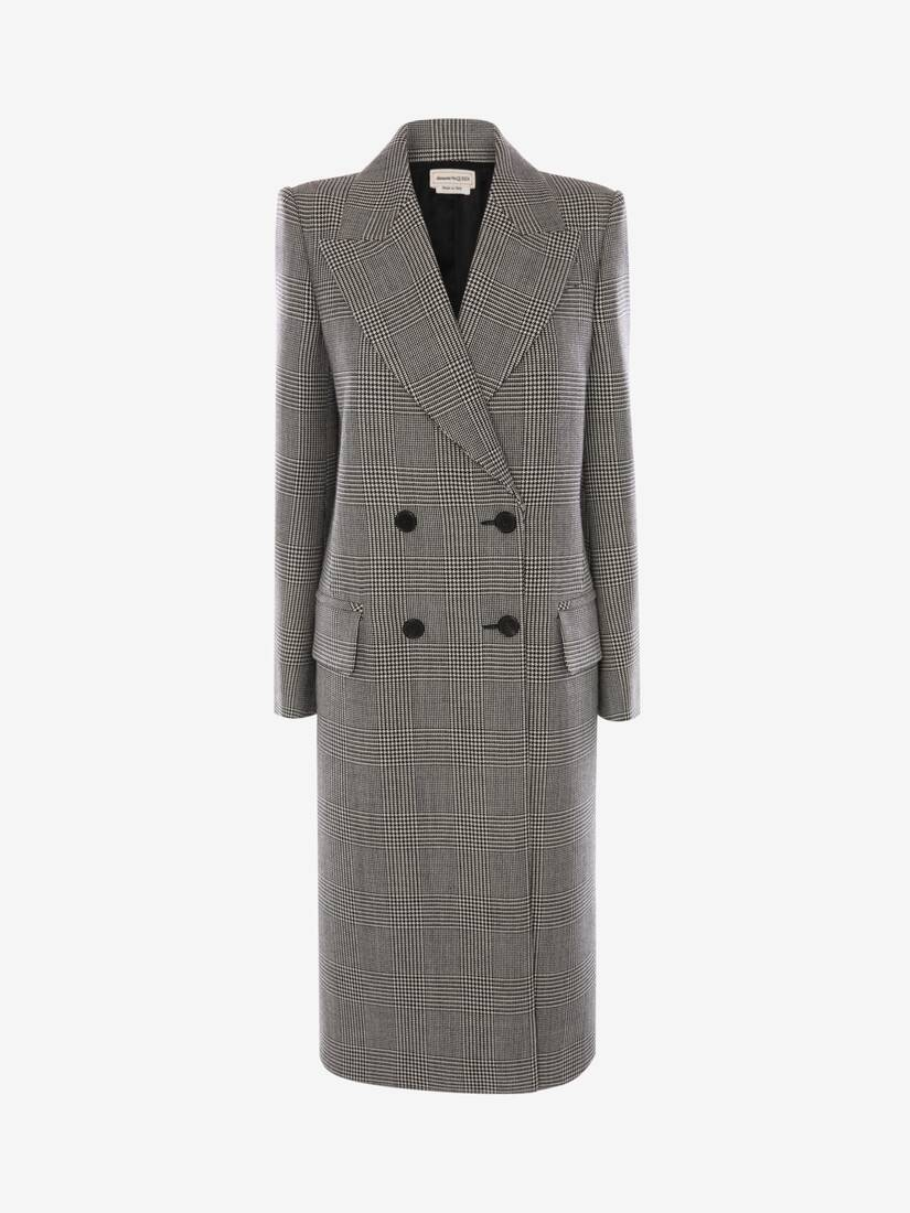 Display a large version of the product image 1 - Prince of Wales Oversized Coat