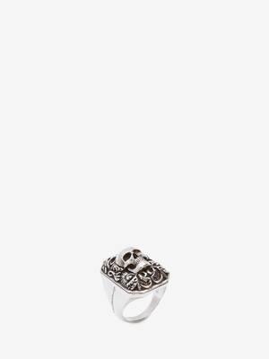 Engraved Skull Ring