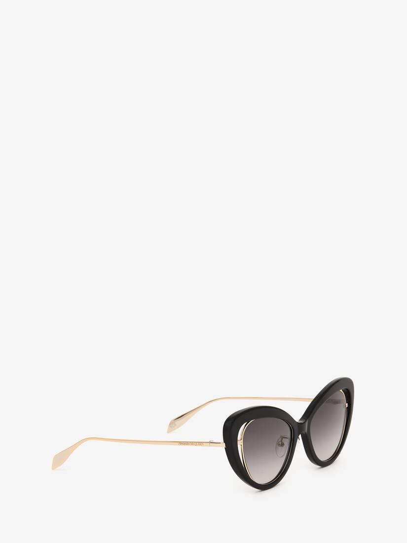 Display a large version of the product image 3 - Open Wire Cat-Eye Sunglasses