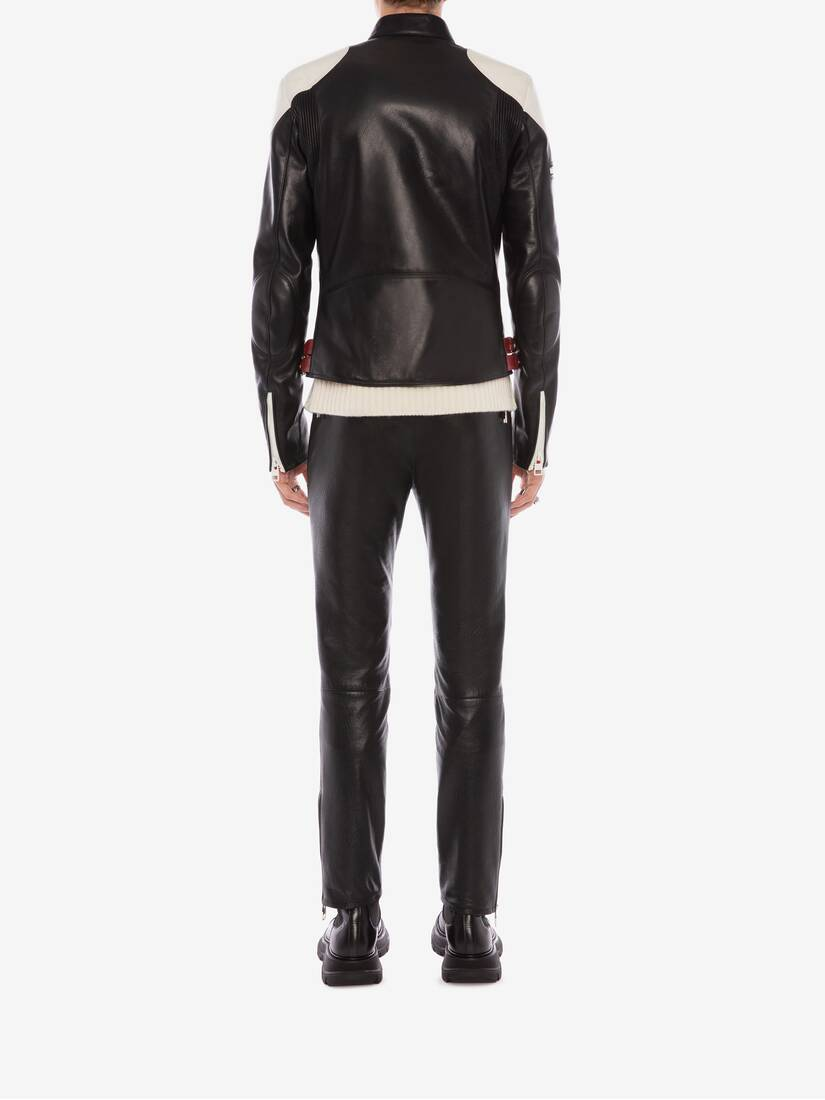 Display a large version of the product image 4 - McQueen Classic Leather Biker Trousers