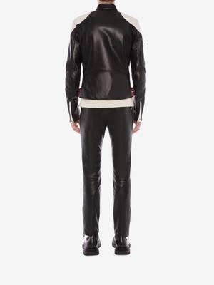 Pantalon de motard classique McQueen en cuir