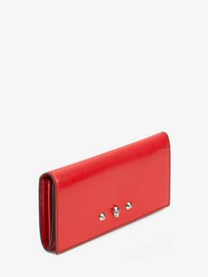 Skull and Stud Continental Wallet