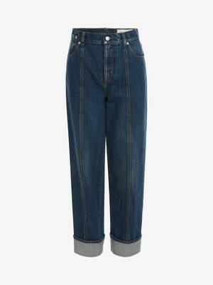 Wide Leg Denim Trouser