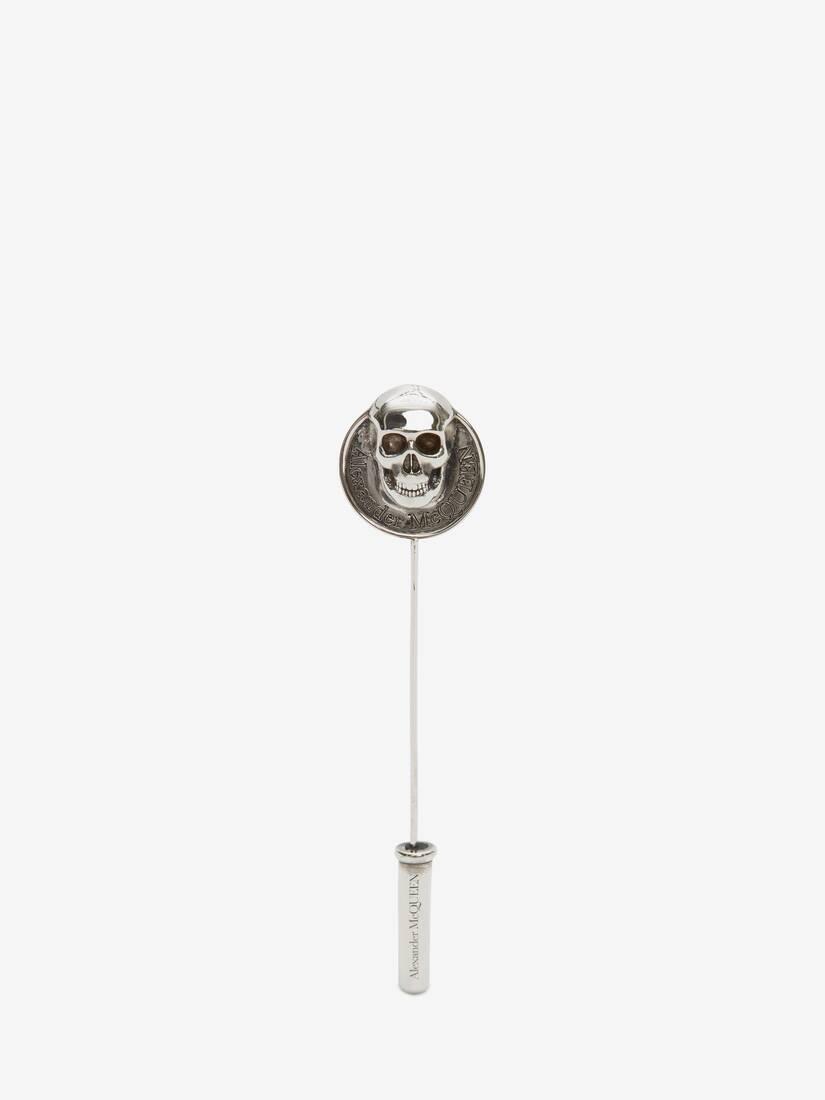 Afficher une grande image du produit 1 - Broche à pièce de monnaie Skull