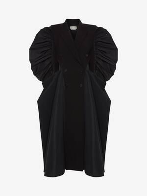Spliced Drape Coat