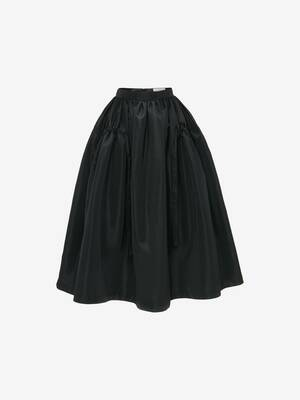 Drawstrings Gathered Midi Skirt