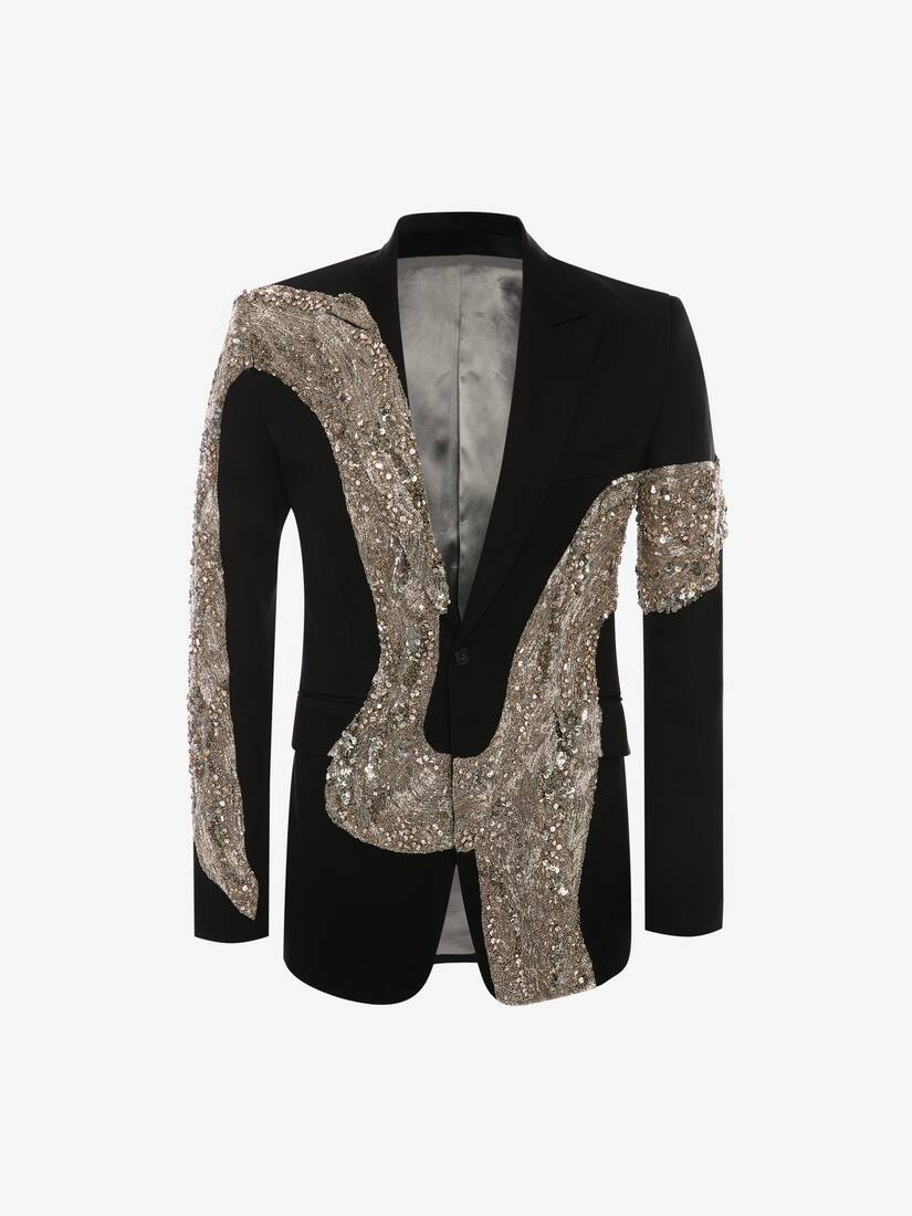 Molten Metal Embroidered Jacket