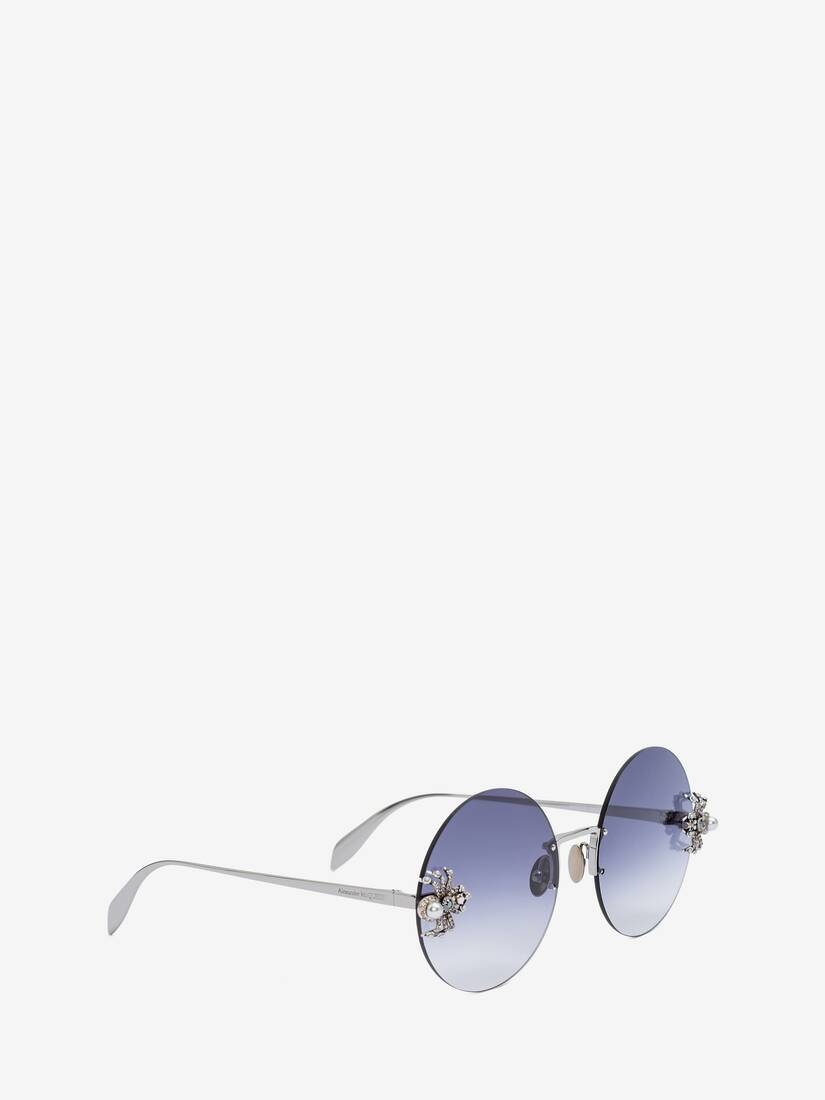 Display a large version of the product image 3 - Spider Jewelled Round Sunglasses