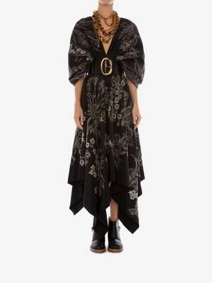 Endangered Flower Crystal Embroidered Dress