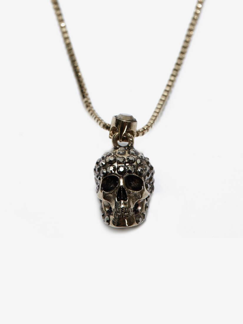 Pave Skull Necklace