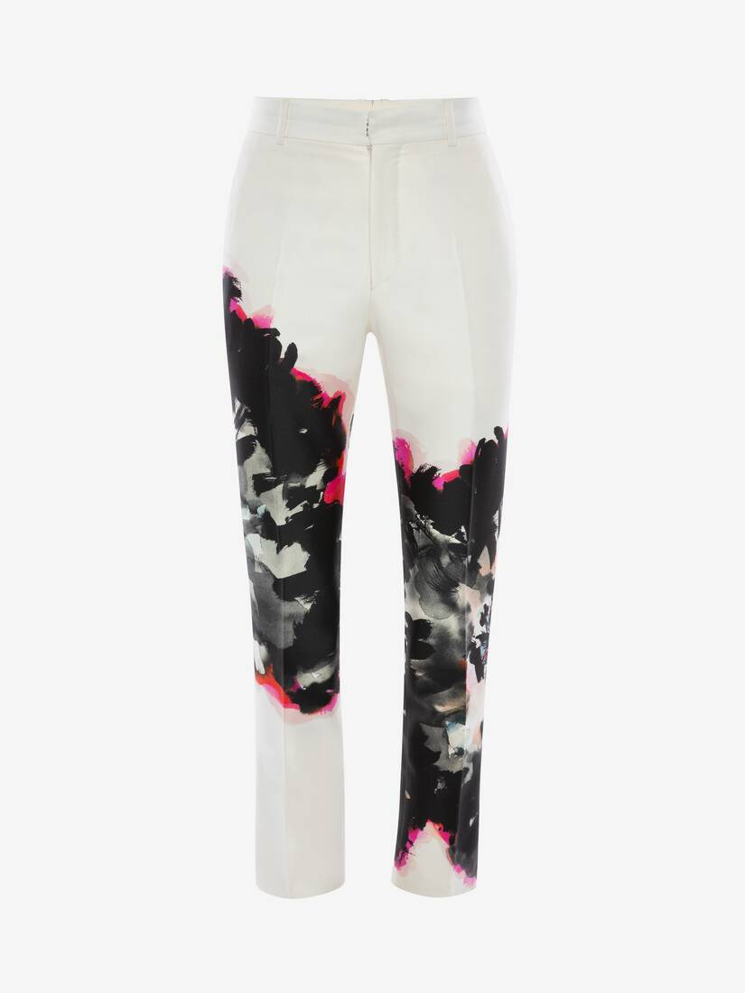 Display a large version of the product image 1 - Ink Floral Trousers