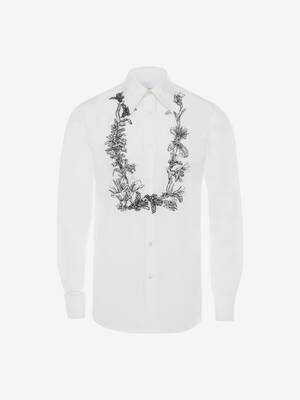 Floral Garland Embroidered Shirt