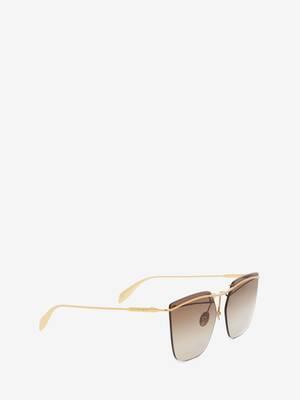 Metal Bar Square Sunglasses