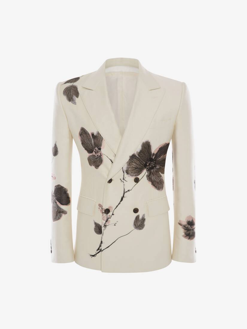 Display a large version of the product image 1 - Camo Ink Floral Jacquard Jacket