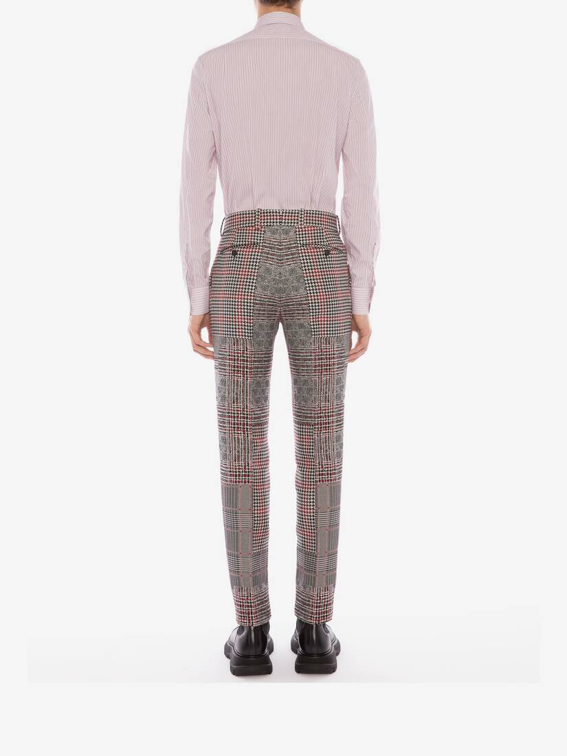 Display a large version of the product image 5 - Patchwork Prince of Wales Trousers