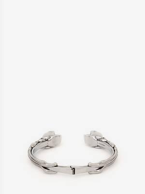 Twin textured skull bracelet