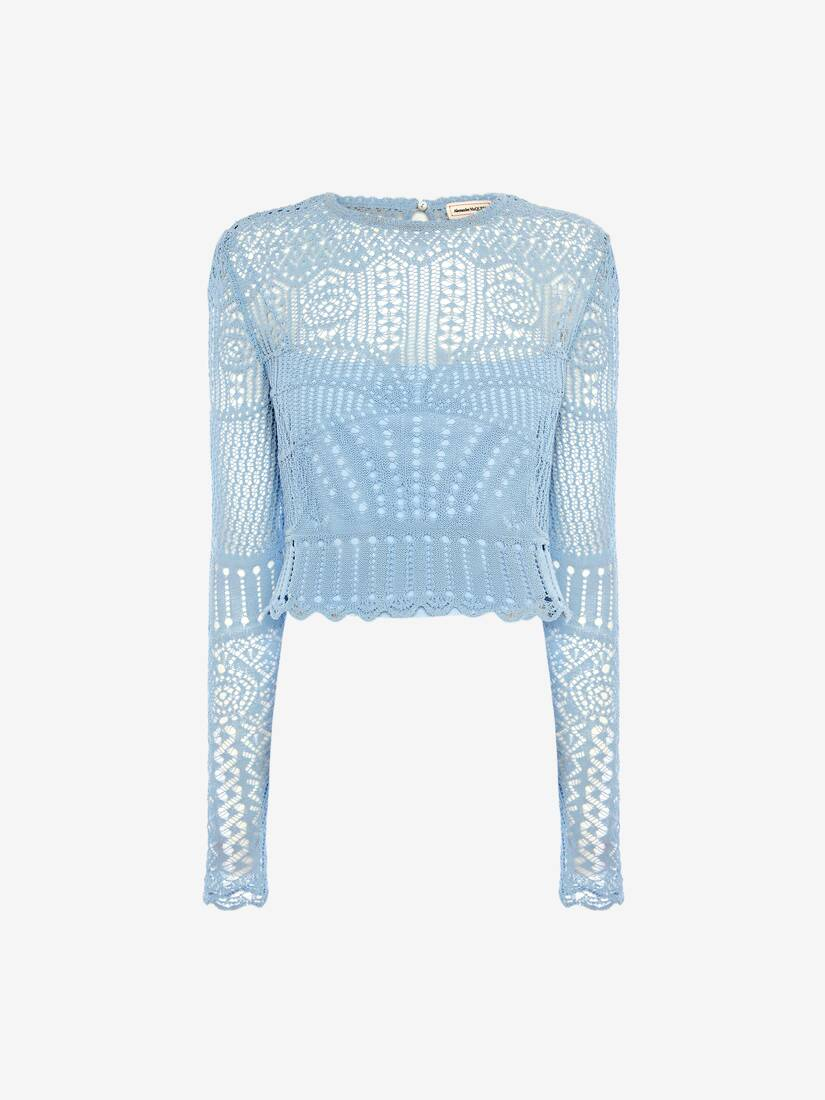 Patchwork Lace Knitted Top