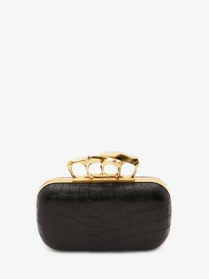 Box Clutch Four-Ring Sculptural