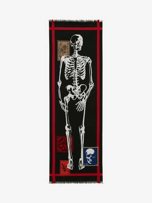 Skeleton Graphic Stole
