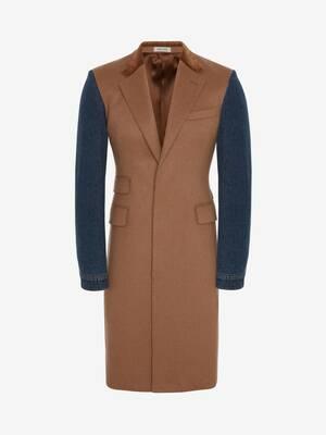 Hybrid Denim Sleeve Coat