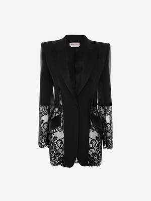 Light Wool Silk Lace Jacket