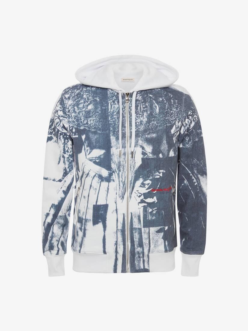 Trompe-l'œil Printed Hooded Sweatshirt