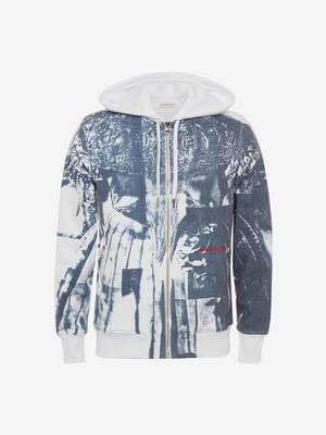 Trompe-l'œil Printed Hooded Sweatshirt