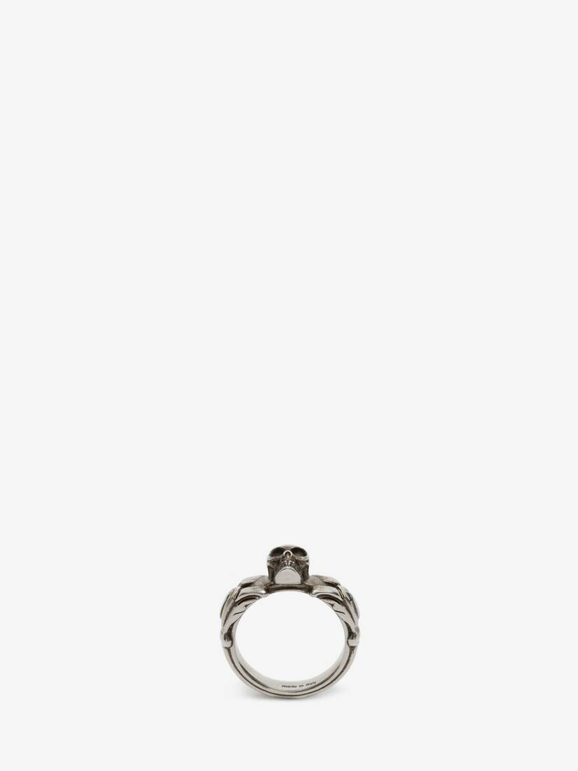 Display a large version of the product image 1 - Textured Skull Ring