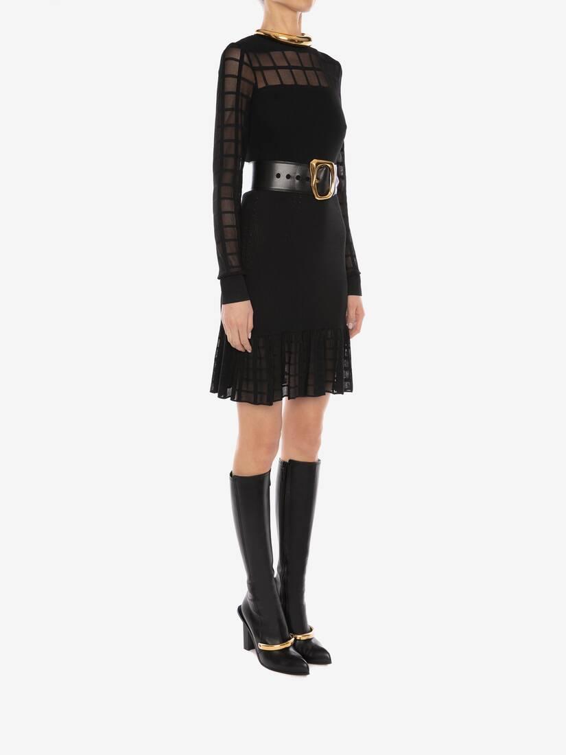 Ottoman Knit Mini Dress