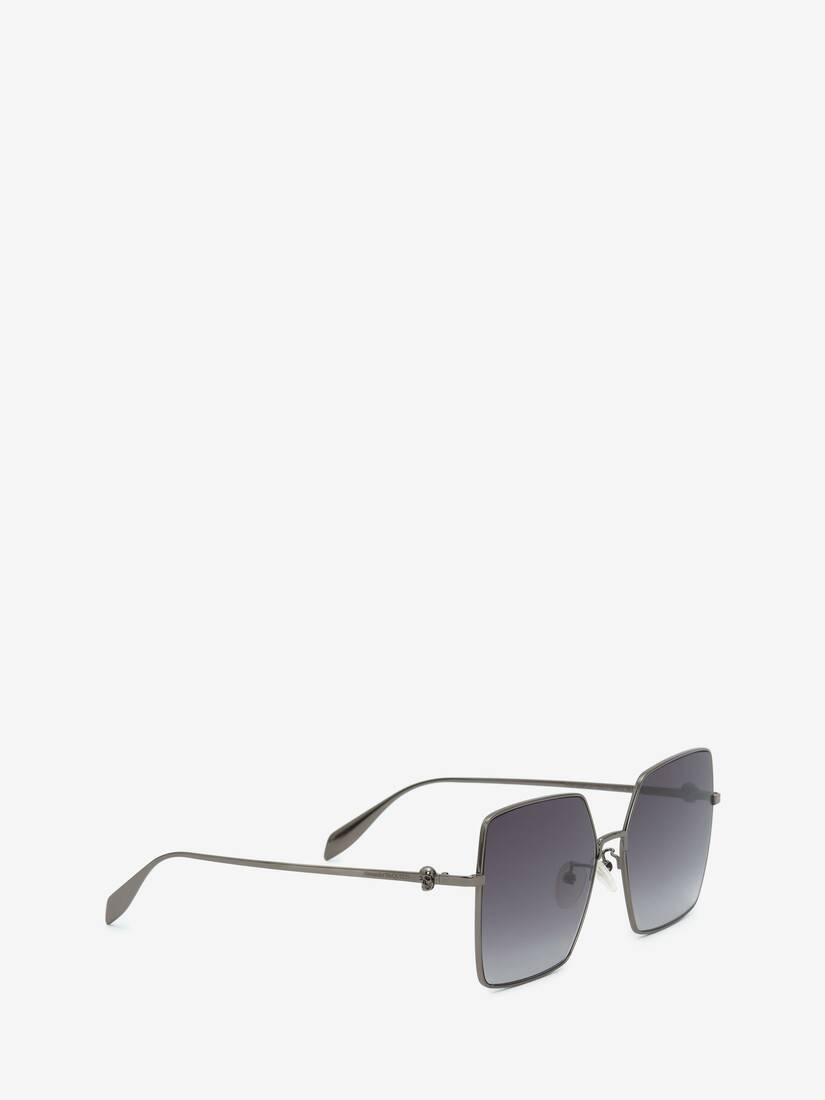 Light Skull Square Sunglasses