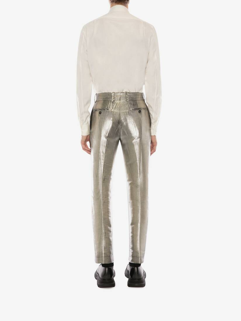 Display a large version of the product image 4 - Metallic Moiré Cigarette Pants
