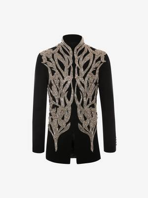 Iris Embroidered Military Jacket