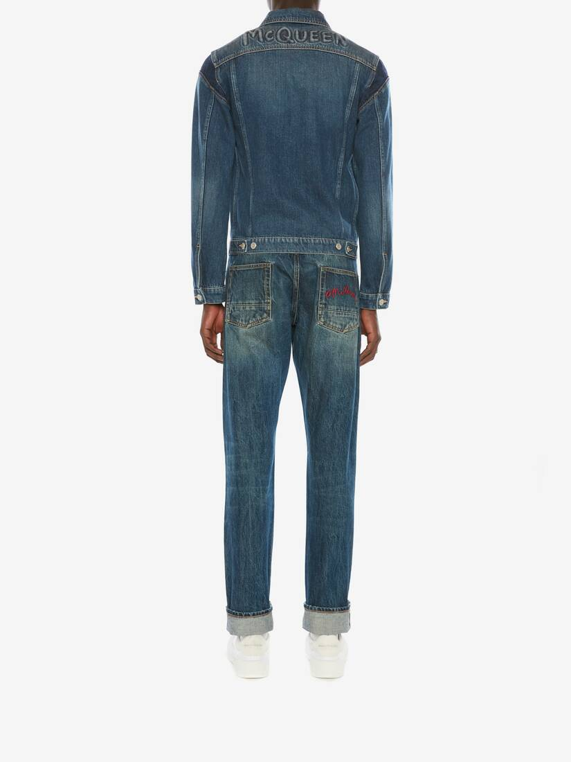 McQueen Graffiti Denim Jacket