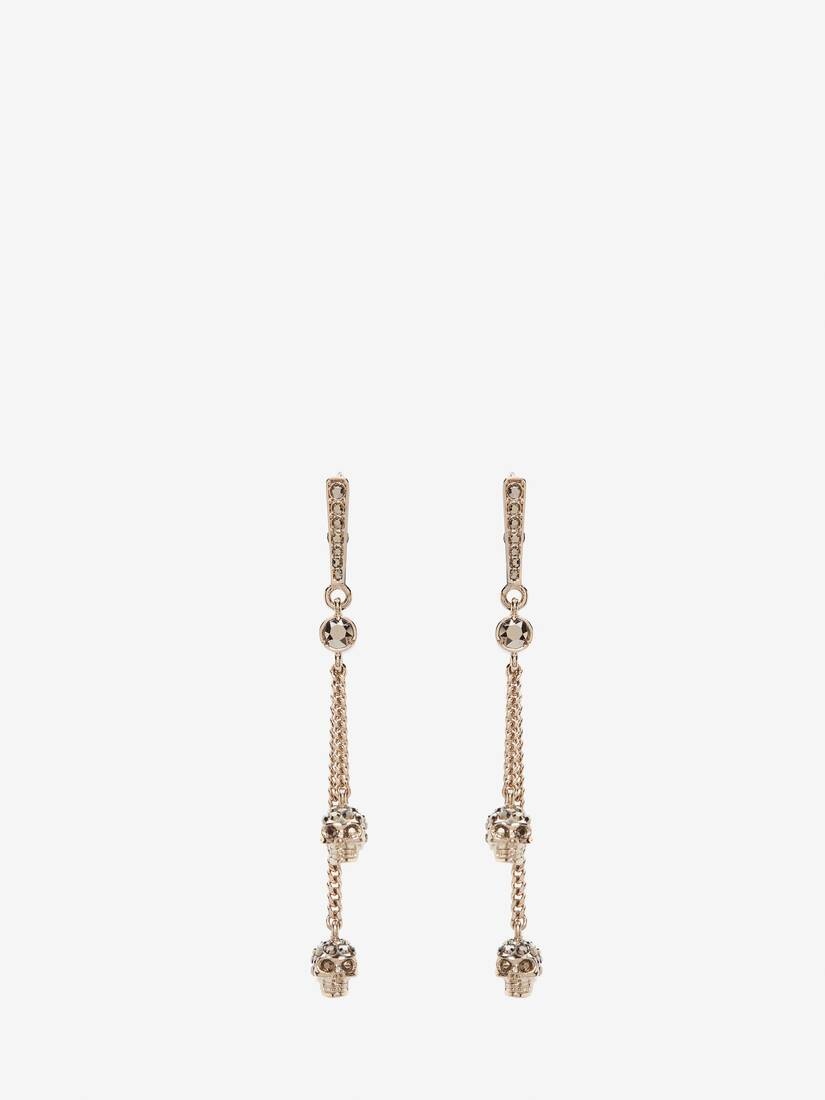 Display a large version of the product image 1 - Chain Skull Earrings