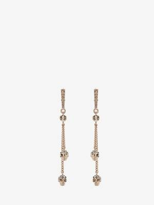 Chain Skull Earrings