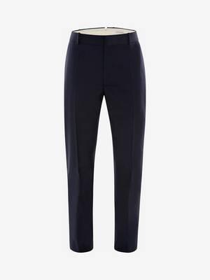 Wool Mohair Tuxedo Trousers