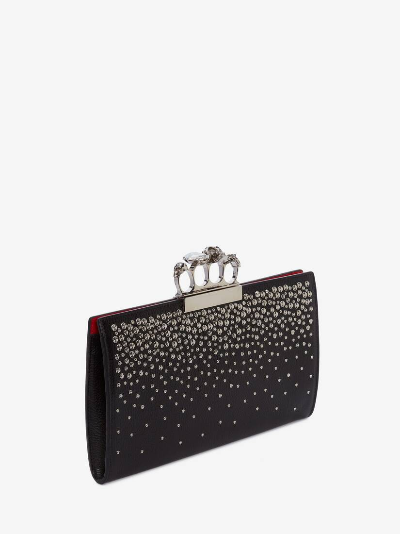 Display a large version of the product image 2 - Skull Four-Ring Flat Pouch