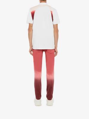 Dip Dye Printed Harness Polo
