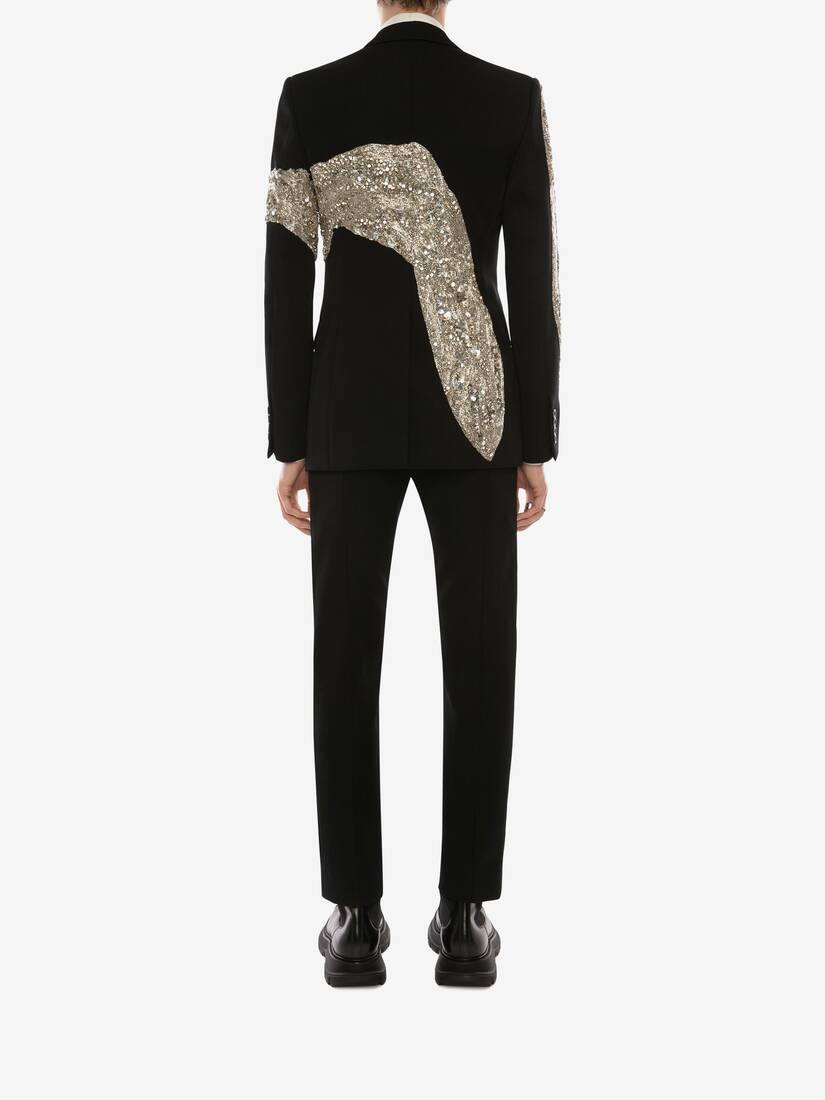 Display a large version of the product image 4 - Molten Metal Embroidered Cigarette Trousers
