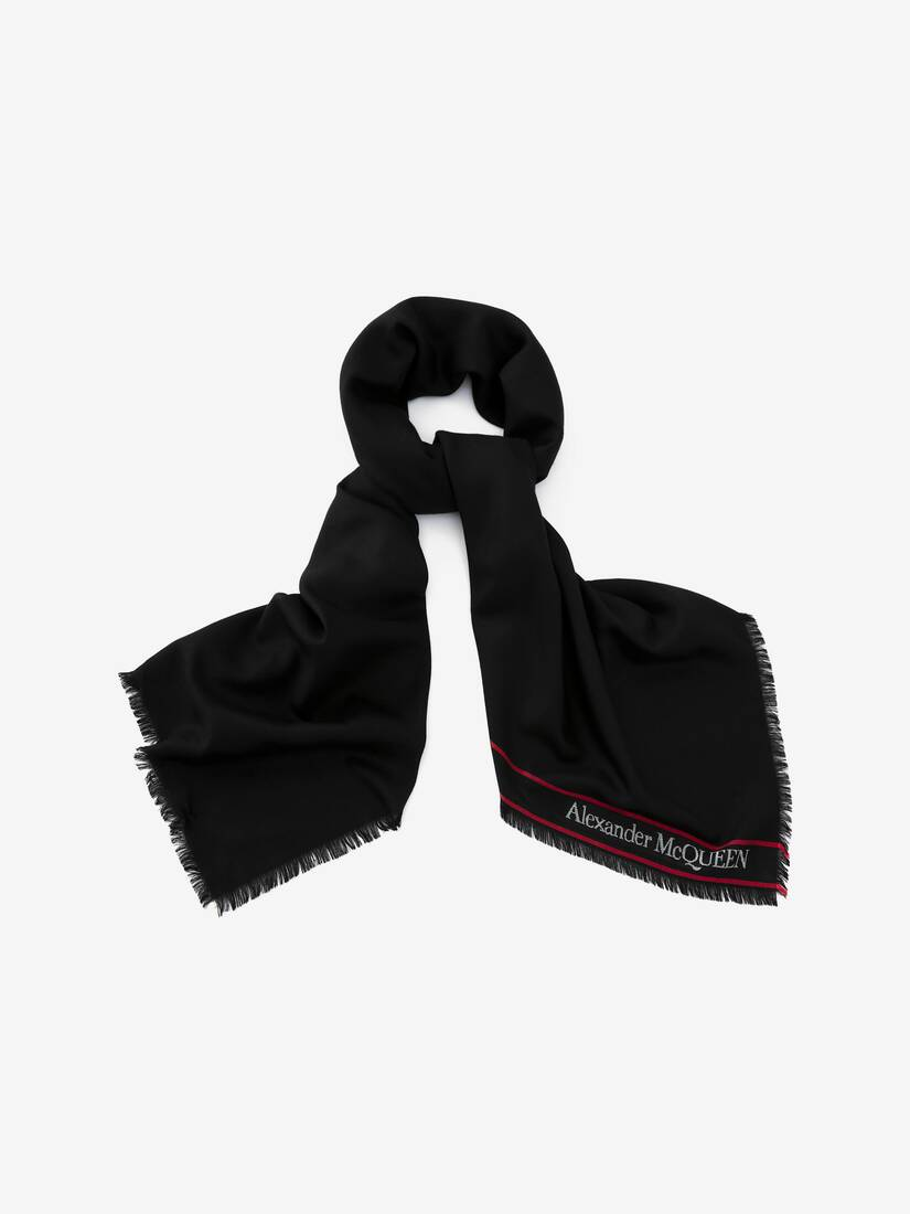 Display a large version of the product image 2 - Alexander McQueen Selvedge Scarf