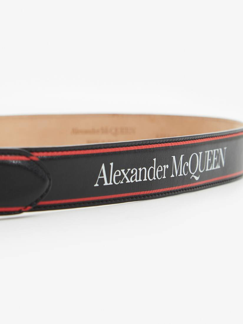 Display a large version of the product image 3 - Alexander McQueen Selvedge Logo Identity Belt