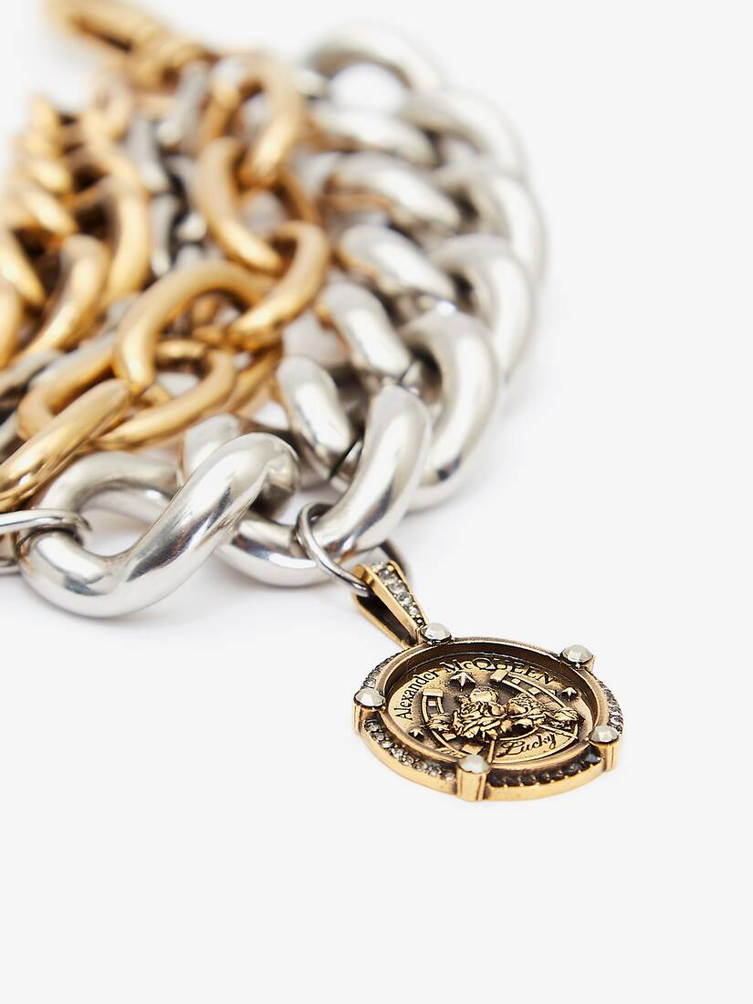 Bracelet à chaîne avec médaillon