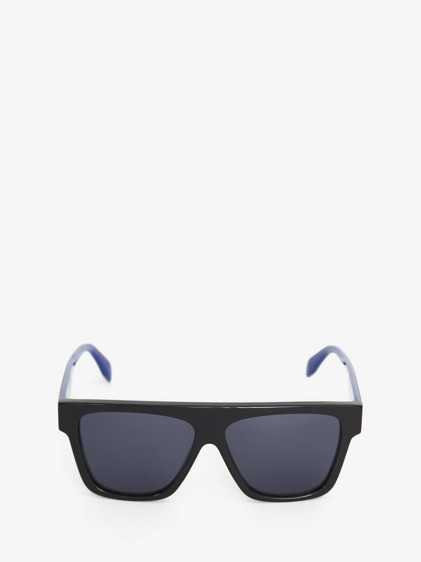 Sonnenbrille mit flacher Oberseite und Webkante