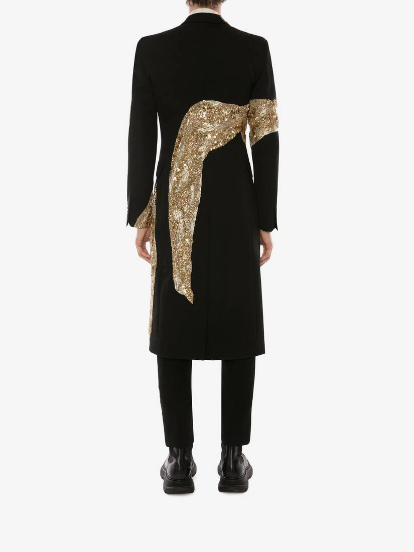 Molten Metal Embroidered Coat