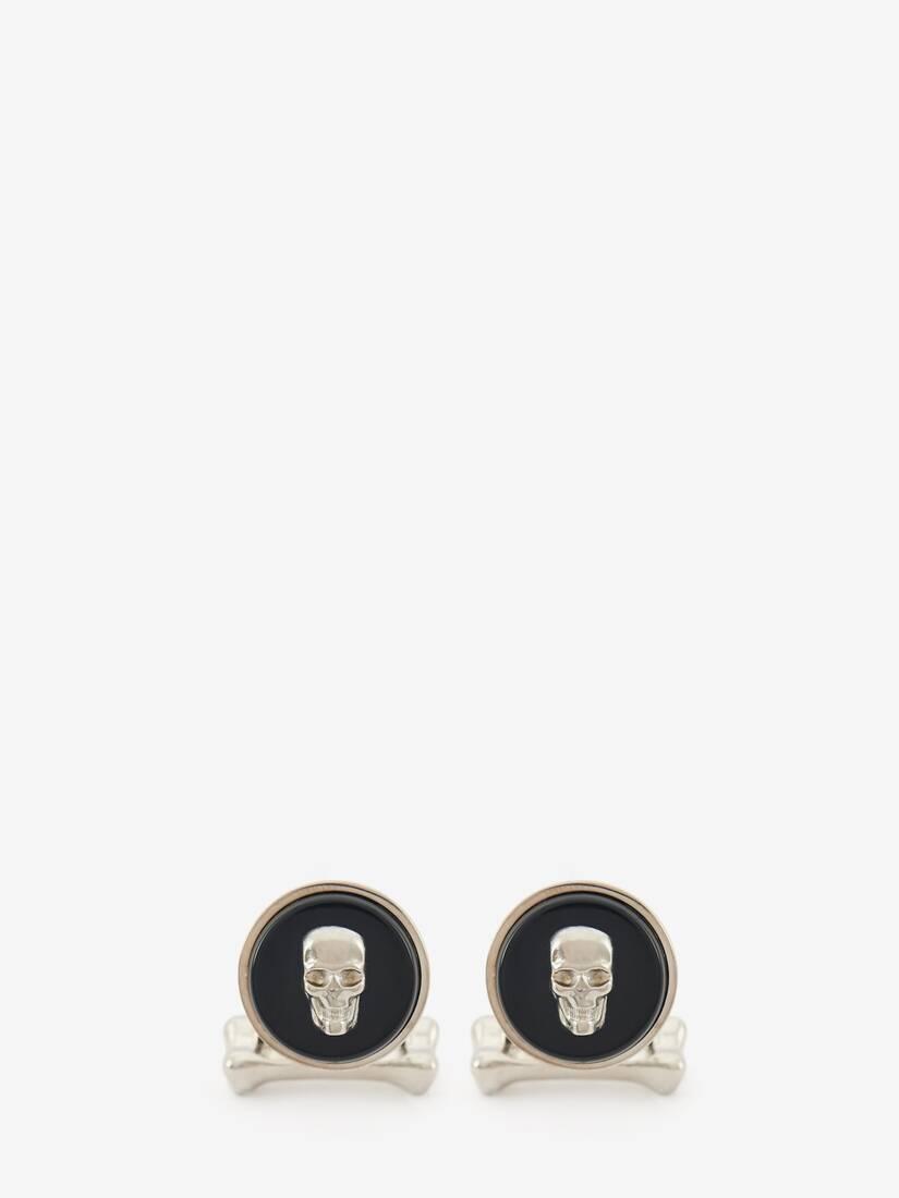 Afficher une grande image du produit 1 - Boutons de manchette avec pierre Skull